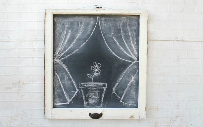 Repurposed Old Window Chalkboard | Turn Old Junk into Fabulous Farmhouse Decor |via www.knickoftime.net