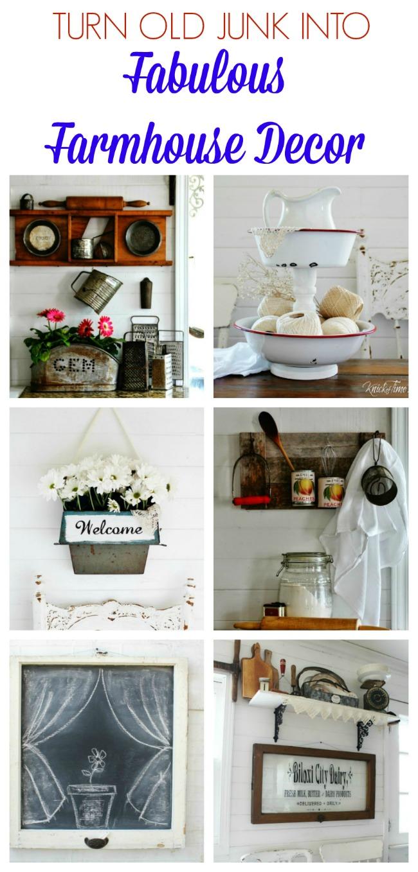 Turn Old Junk into Fabulous Farmhouse Decor | www.knickoftime.net
