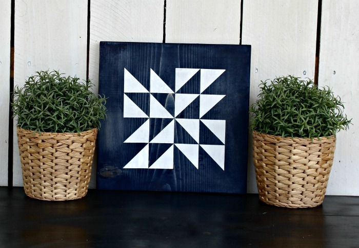 Blue & White Indoor Barn Quilt