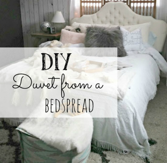 DIY duvet fro a bedspread  featured at Talk of the Town | www.knickoftime.net