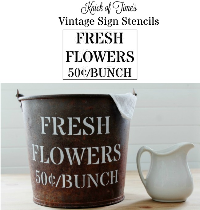FLOWER SHOP Fresh Flowers | Knick of Time Vintage Sign Stencils | knickoftime.net