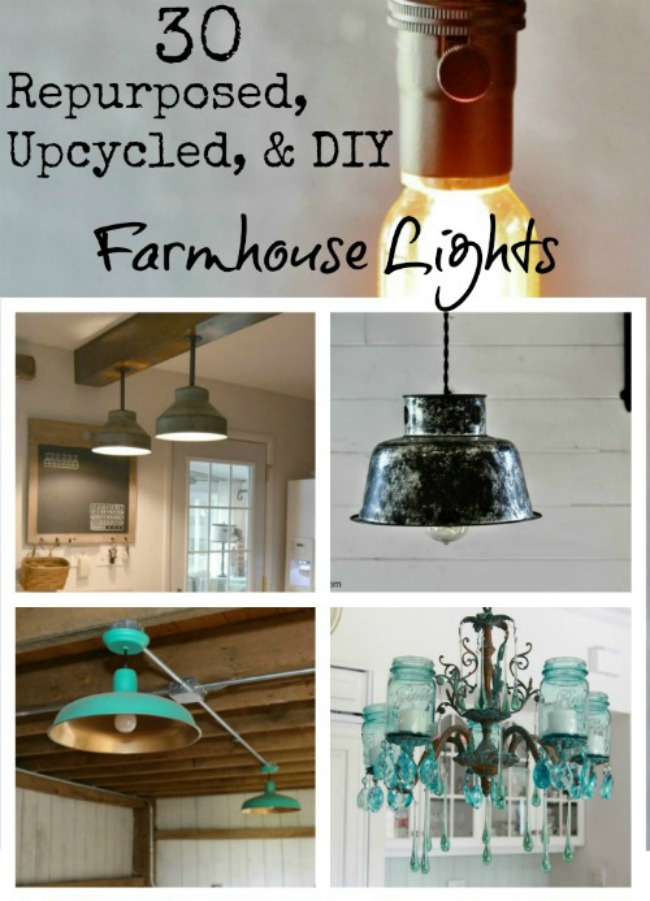 Upcycled, Repurosed and DIY Farmhouse Lights | www.knickoftime.net