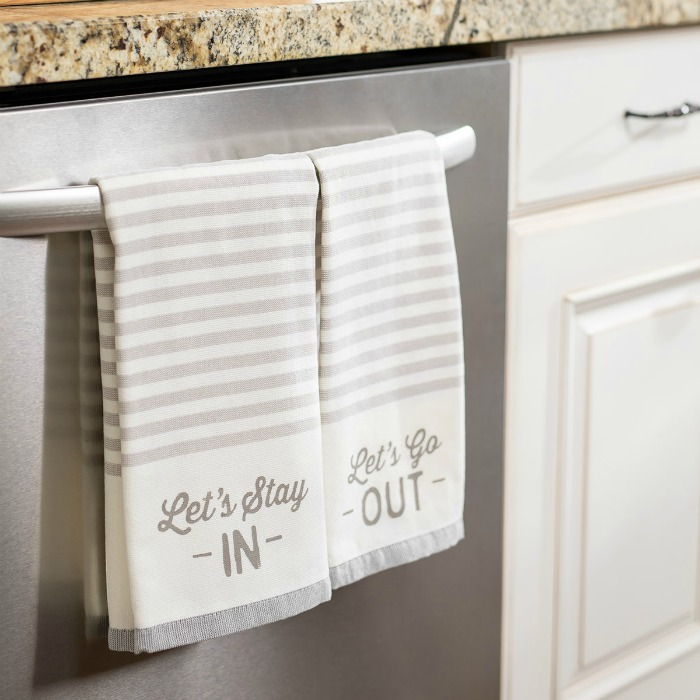 Let's Stay In DIY Kitchen Towels
