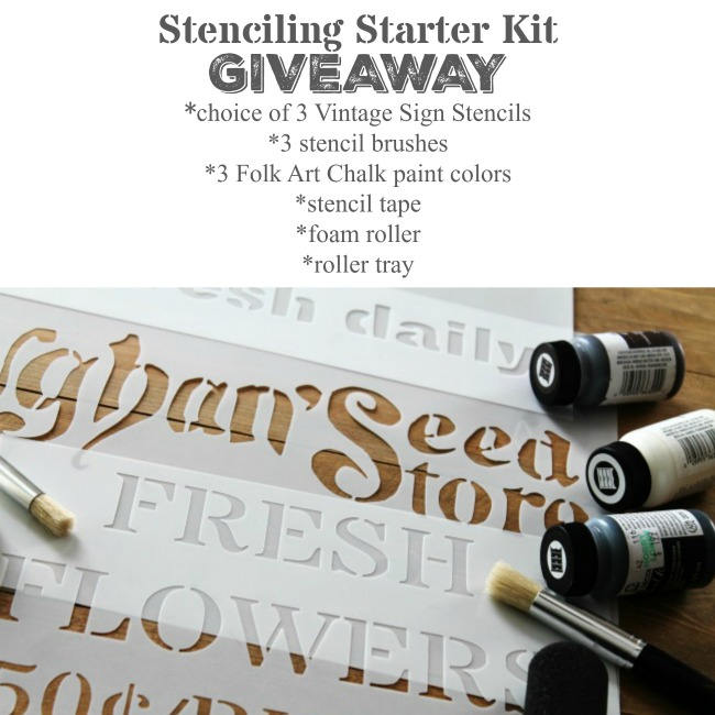 Learn How to Stencil with the Stenciling Starter Kit giveaway with Knick of Time's Vintage Sign Stencils / knickoftime.net