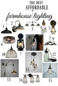 Affordable Farmhouse Lighting for Every Room in the House