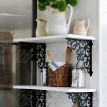 Farmhouse White Kitchen Wall Storage Shelves