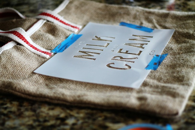 how-to-stencil-burlap-tote-knick-of-time