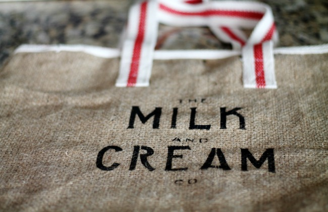 how-to-stencil-milk-and-cream-company-burlap-tote-bag