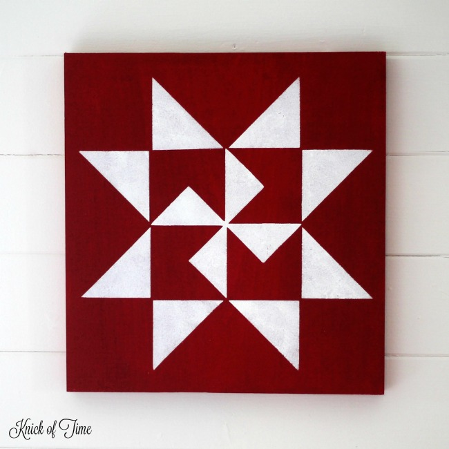 image regarding Printable Barn Quilt Patterns referred to as The Lazy Females Advisor towards Generate a Farmhouse Barn Quilt Block
