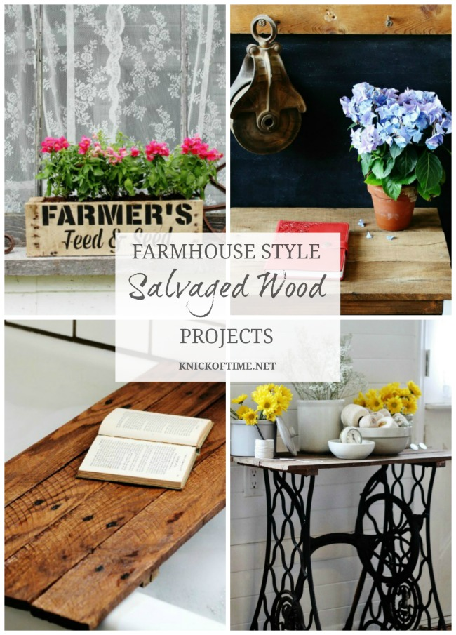 Farmhouse Style DIY Decor Made With Salvaged Wood | www.knickoftime.net