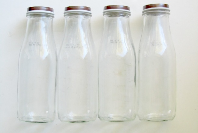How to turn empty Starbucks bottles into Farmhouse Style Milk Bottles | www.knickoftime.net
