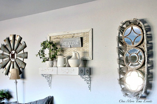 Farmhouse wall decor by One More Time Events featured at Talk of the Town www.knickoftime.net