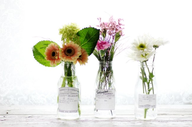 Spring Flowers Apothecary Jars With Refreshed Printable Labels