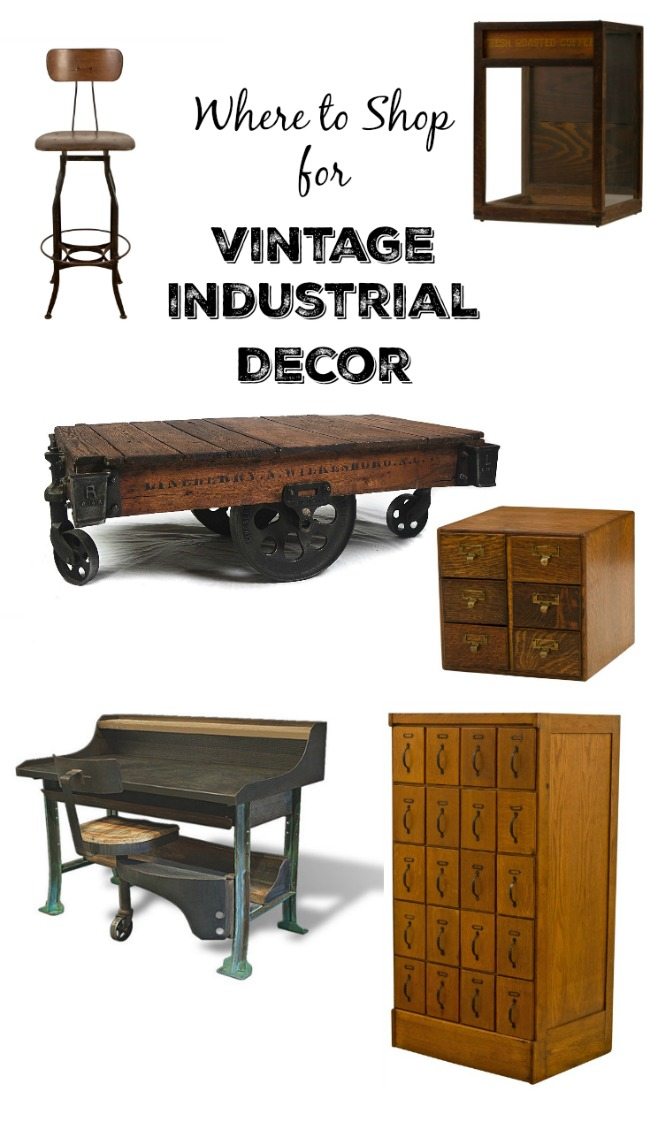 Where to shop online for antique factory, warehouse, store and industrial decor | www.knickoftime.net