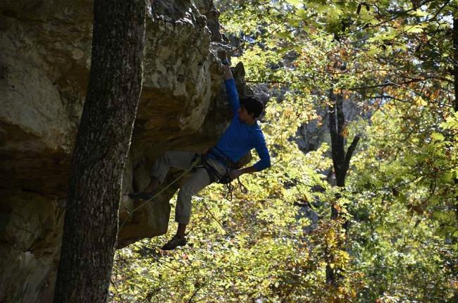 Behind every rock climbing son is a worried mom! | www.knickoftime.net