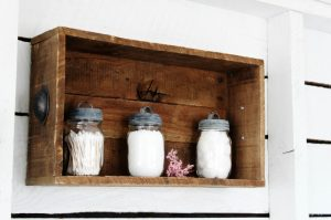 Farmhouse Projects That Multi-Task | This rustic DIY drawer can be used as a centerpiece, or hung on a wall as a shelf | www.knickoftime.net