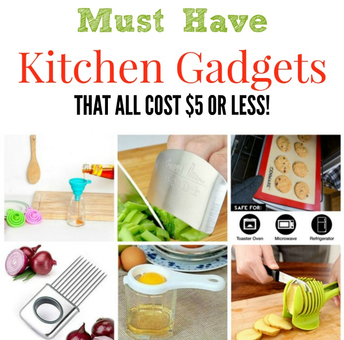 Must Have Kitchen Gadgets That Cost $5 or Less for bridal showers, housewarming gifts, and stocking stuffers | www.knickoftime.net