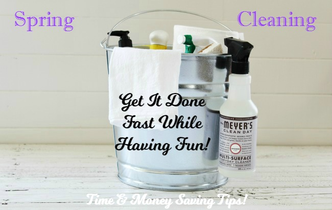 Who says spring cleaning has to be drudgery? Get my time and money-saving tips and see how I get the job done while having a great time! | www.knickoftime.net