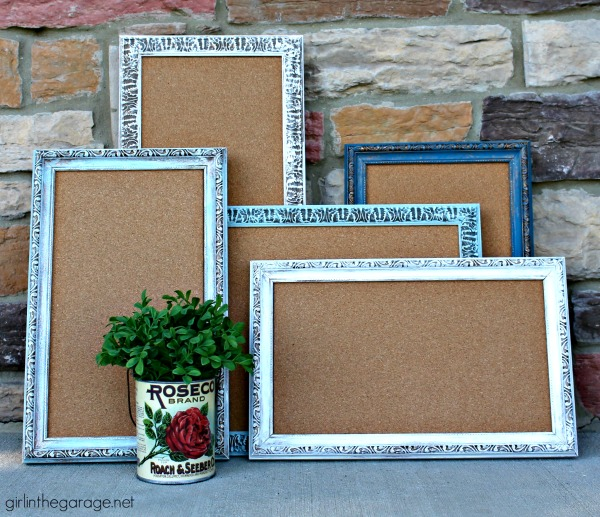 How to Turn ThriftStore Photo Frames into Custom Color Fashionable MemoBoards | Upcycled & Repurosed Thrift Store Makeovers