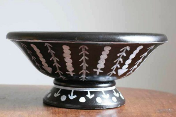 DIY Tribal Pattern Thrift Store Wooden Bowl | Upcycled & Repurosed Thrift Store Makeovers