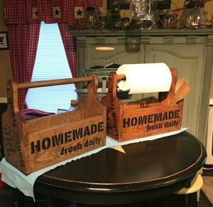 Vintage Sign Stencils farmhouse wood totes