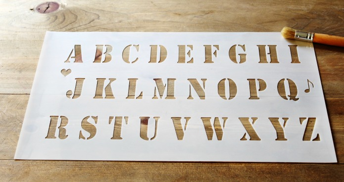 Make your own custom banners with the new Alphabet banner stencil from Knick of Time Vintage Sign Stencils | www.knickoftime.net