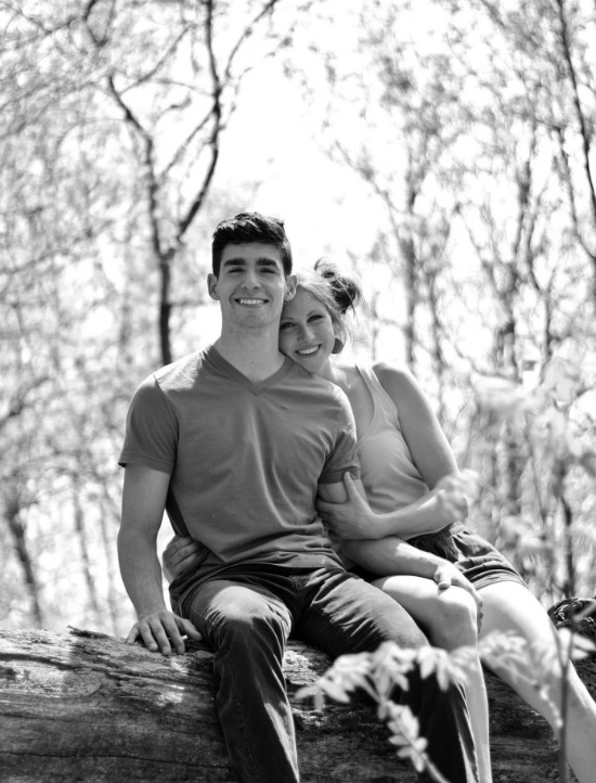 Black and white photography engagement photos | www.knickoftime.net