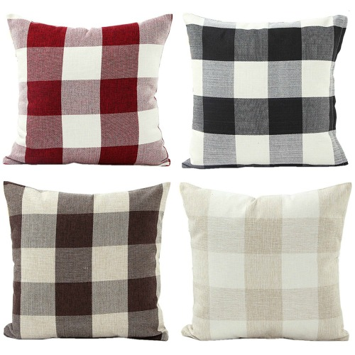 Buffalo check plaid pillow covers Farmhouse Style Pillows to Make or Buy | www.knickoftime.net