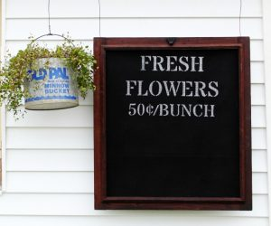 How to Paint a Window Screen Fresh Flowers Sign | www.knickoftime.net