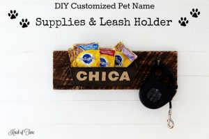 How to make a dog supplies leash holder with customized pet name | www.knickoftime.net