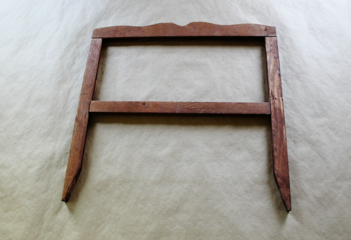 How to make an easy garden sign with a rustic no build frame | www.knickofitme.net