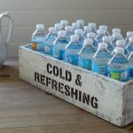 Bottled Drinks Rustic Pantry Storage Crate or Serving Station