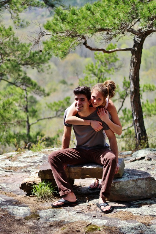 Arkansas rock climbing crag fun engagement photo session | www.knickoftime.net