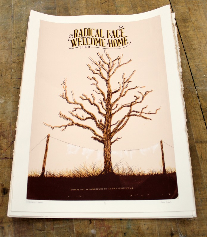 Screen printed concert poster by grahic designer | www.knickoftime.net