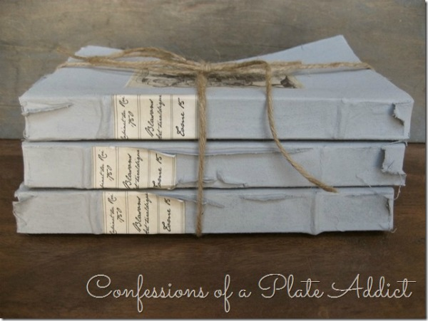 DIY Restoration Hardware Inspired French Book Bundles   Upcycled & Repurosed Thrift Store Makeovers