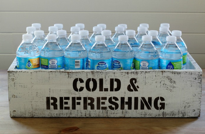 Make this DIY bottled drinks rustic crate for pantry storage or fill with ice cold drinks for a party drink serving station   www.knickoftime.net