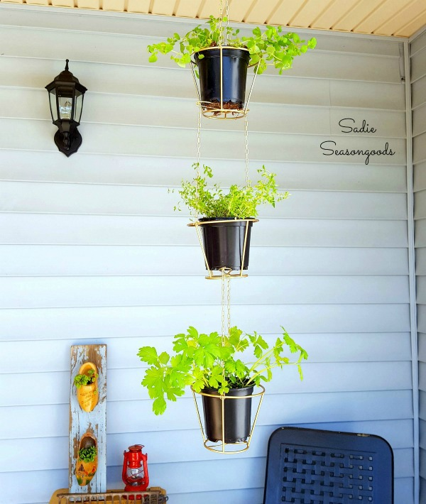 DIY Thrift Store Lamp Shade Hanging Baskets | Upcycled & Repurosed Thrift Store Makeovers