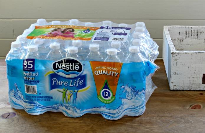 DIY water bottles pantry storage crate   www.knickoftime.net