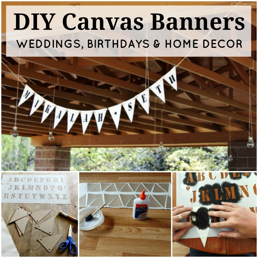 DIY Canvas Banners for Weddings, Baby Showers, Birthdays, and Holidays | www.knickoftime.net