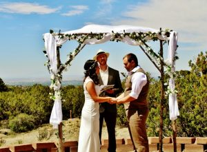 Outdoor mountain wedding rustic wooden wedding arch | www.knickoftime.net