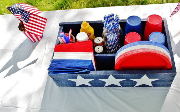 Diy Pallet Wood Patriotic Party Picnic Crate Knick Of Time