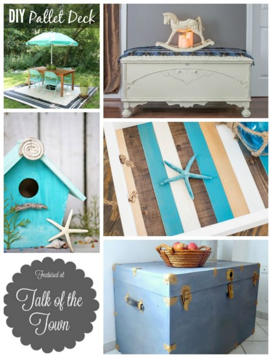 Beach decor and more | Talk of the Town link party featured projects at Knick of Time | www.knickoftime.net