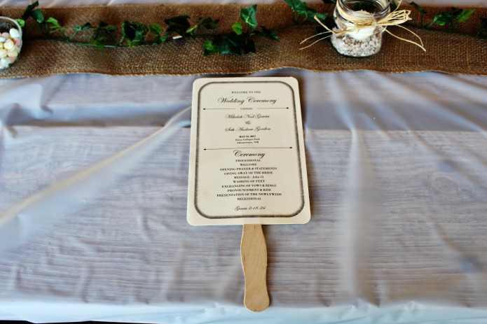 Wedding ceremony program guest fans | www.knickoftime.net