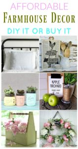 Budget Friendly DIY Farmhouse Style Decor to make or buy | www.knickoftime.net
