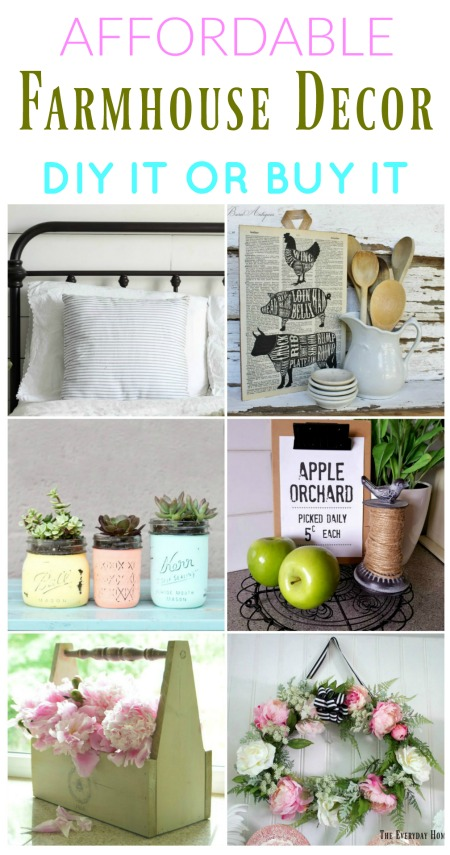 Affordable Farmhouse Style Decor to make or buy | www.knickoftime.net