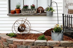 Farmhouse Window Box and Guest House Flower Bed | Junk Garden Series