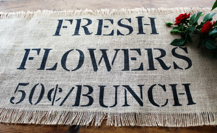 Farmhouse Decor Sale Burlap Table Runner | www.knickoftime.net