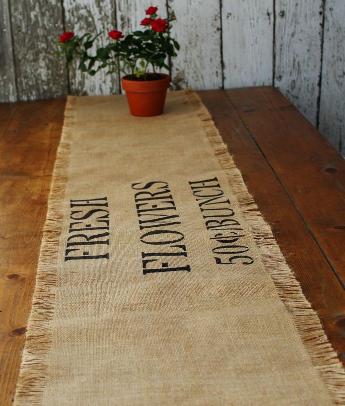 Farmhouse Decor Sale Burlap Table Runner | www.knickoftime.net