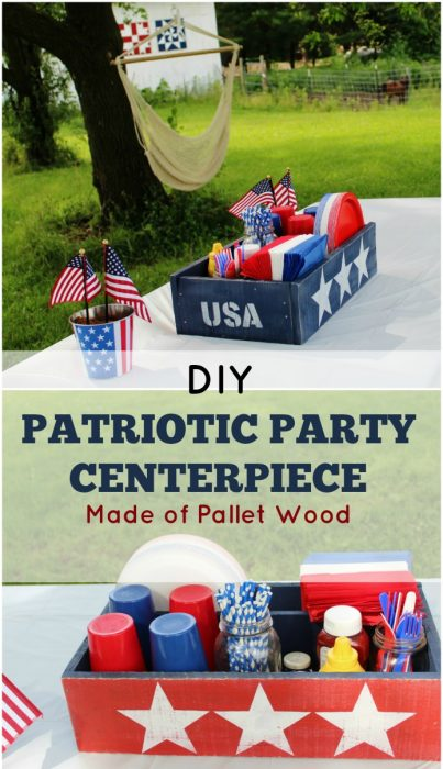 DIY Patriotic Pallet Wood Picnic Table Centerpiece Tutorial