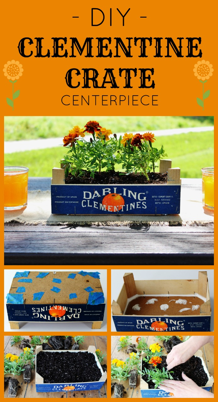 How to make a waterproof CLEMENTINE CRATE flower table centerpiece | www.knickoftime.net
